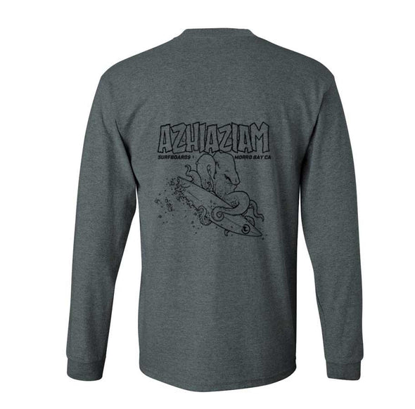 Azhiaziam Men's Octopus Long Sleeve T-Shirt - Azhiaziam