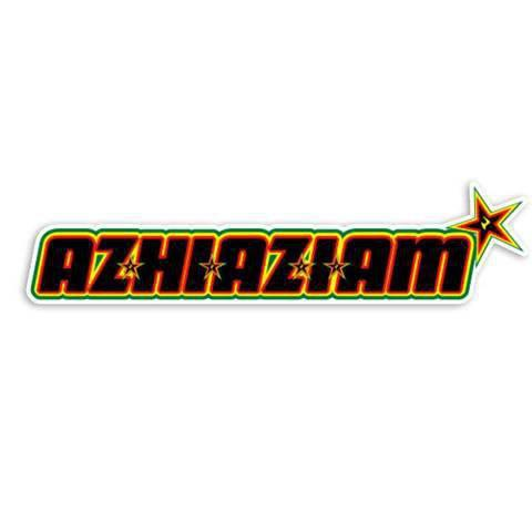 Azhiaziam RASTA Lighter LOGO DIE CUT STICKER! - Azhiaziam