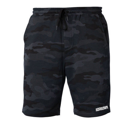 Azhiaziam Black Camo Sweat Shorts - Azhiaziam