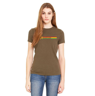 "Women's ""Rasta Stripes"" Tee - Azhiaziam"