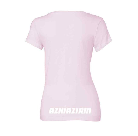 Women's V-Neck Global Fire T-Shirt - Azhiaziam