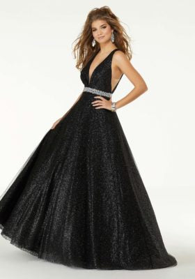 Iridescent Glitter Ballgown Prom Dress