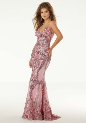 Sequin Fitted Prom Dress