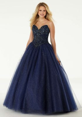Jeweled Ballgown Prom Dress with Sparkle