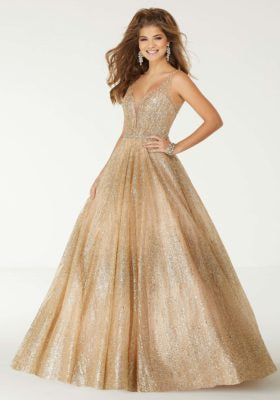 Crystal Glitter Ballgown Prom Dress