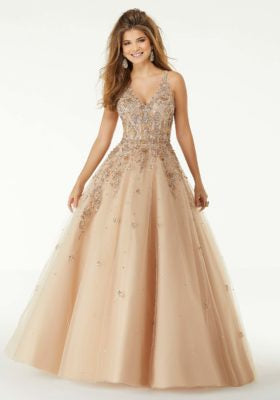 Jeweled Ballgown Prom Dress