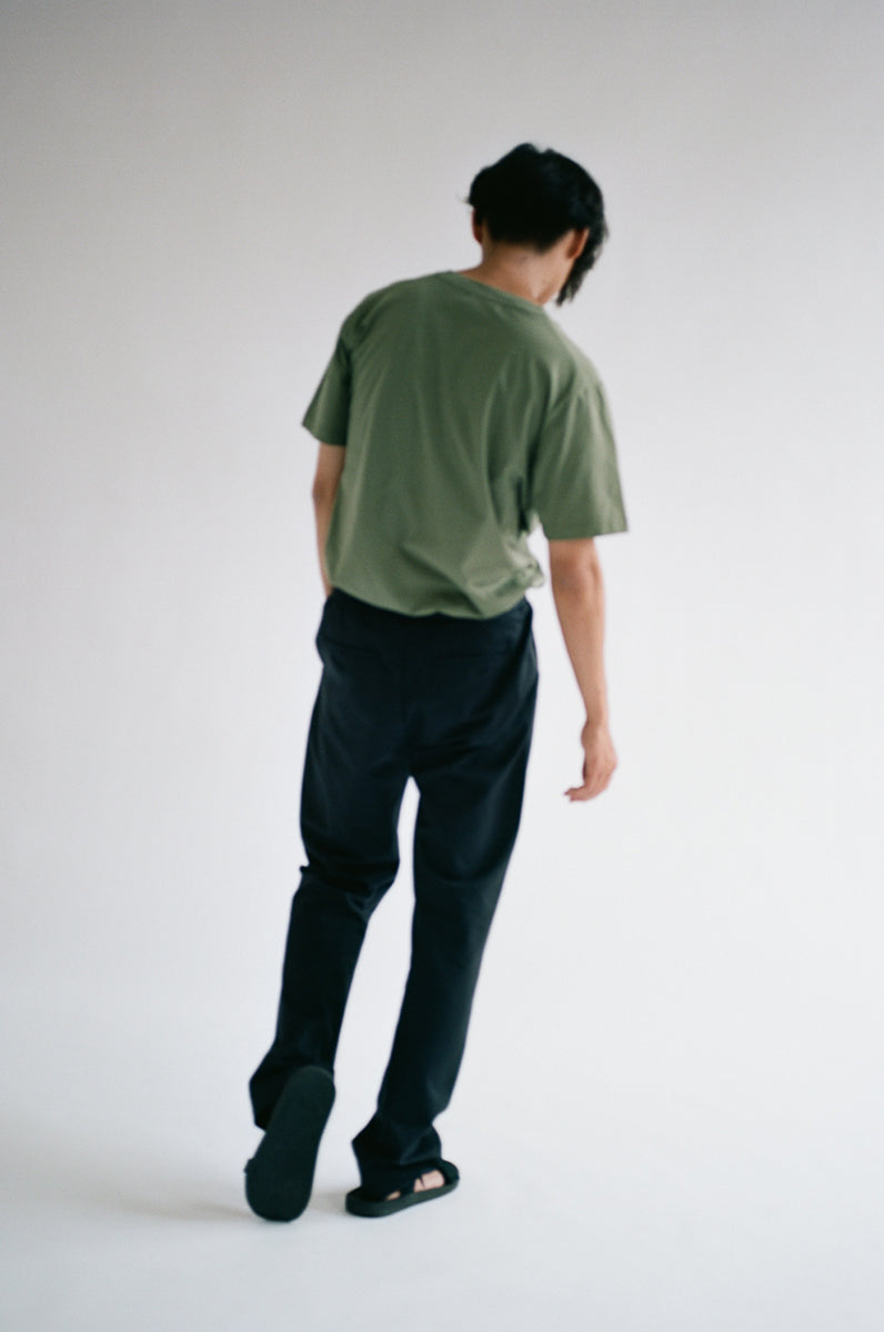 Oftt often  berlin fashion sustainable organic menswear straight leg trousers