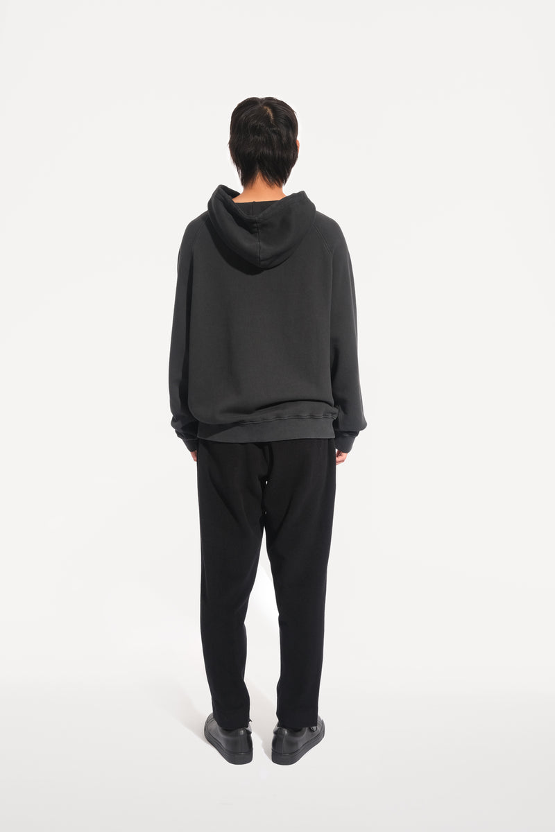 oftt - 03 - heavyweight hooded sweatshirt - black - organic cotton fleece - image 6