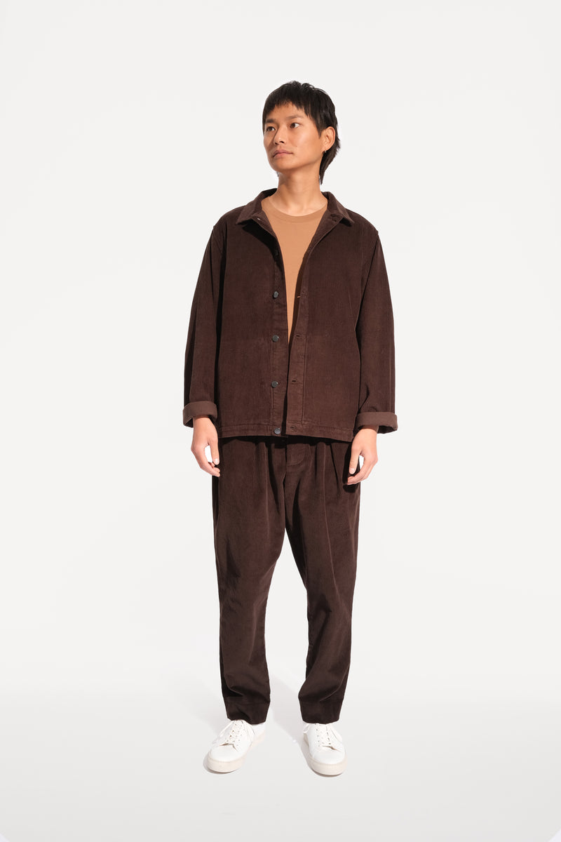 09 oftt  - corduroy jacket - brown - image 1