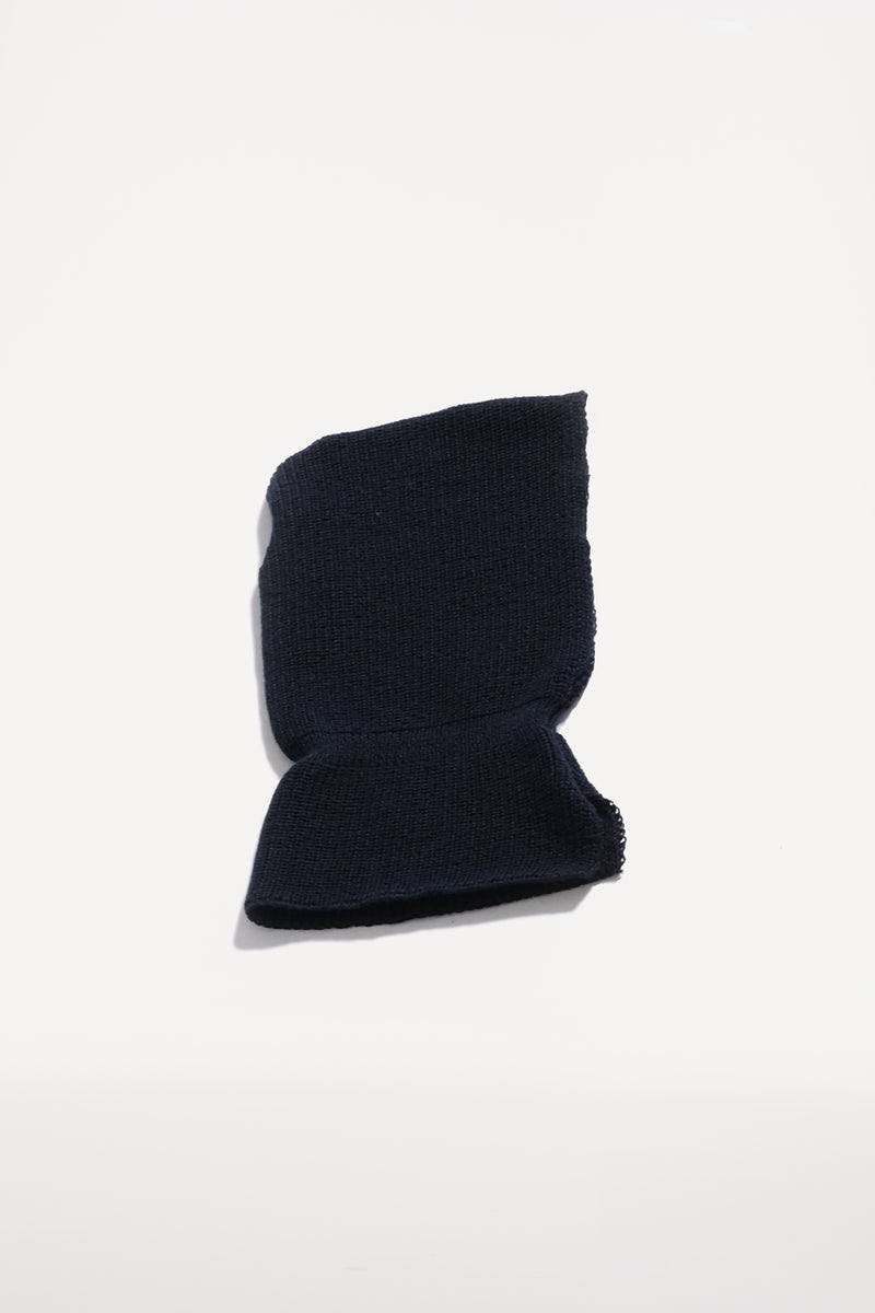 oftt - 00 - knitted hood - navy - wool blend