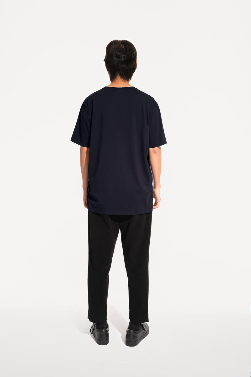 oftt - 01 - perfect fit t-shirt - navy - organic cotton - image 4