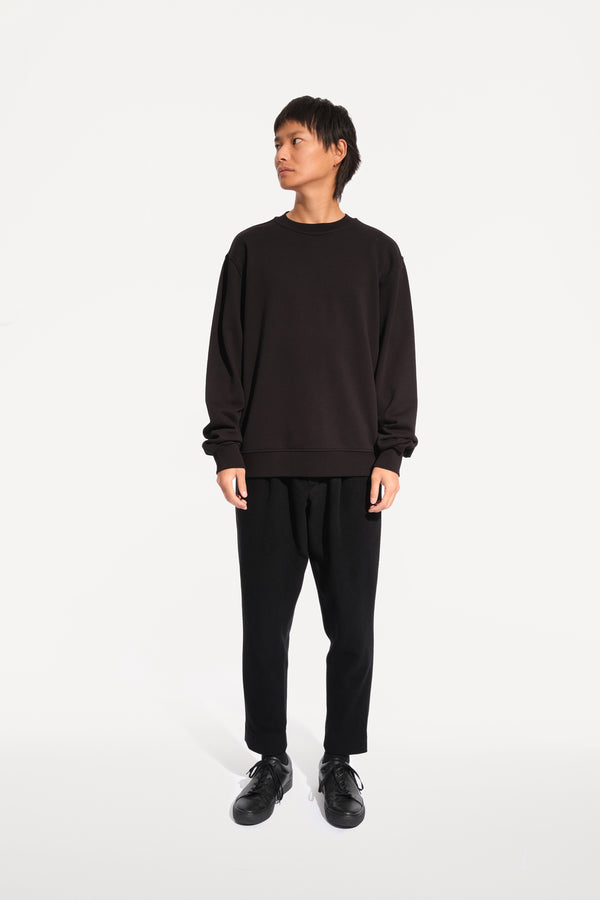oftt - 02- reversible sweatshirt - black - organic cotton fleece - image 1