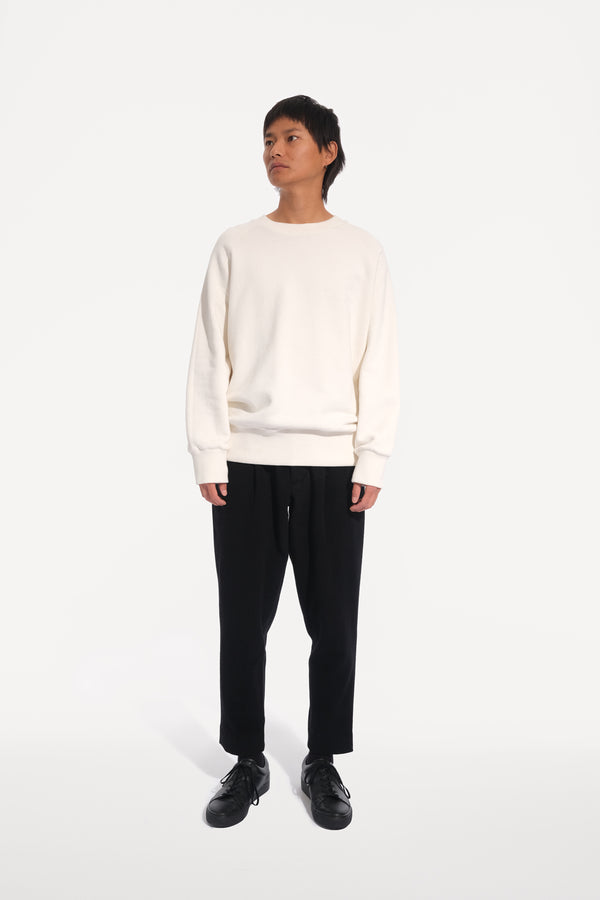 oftt - 02- heavyweight sweatshirt - natural white - organic cotton fleece - image1