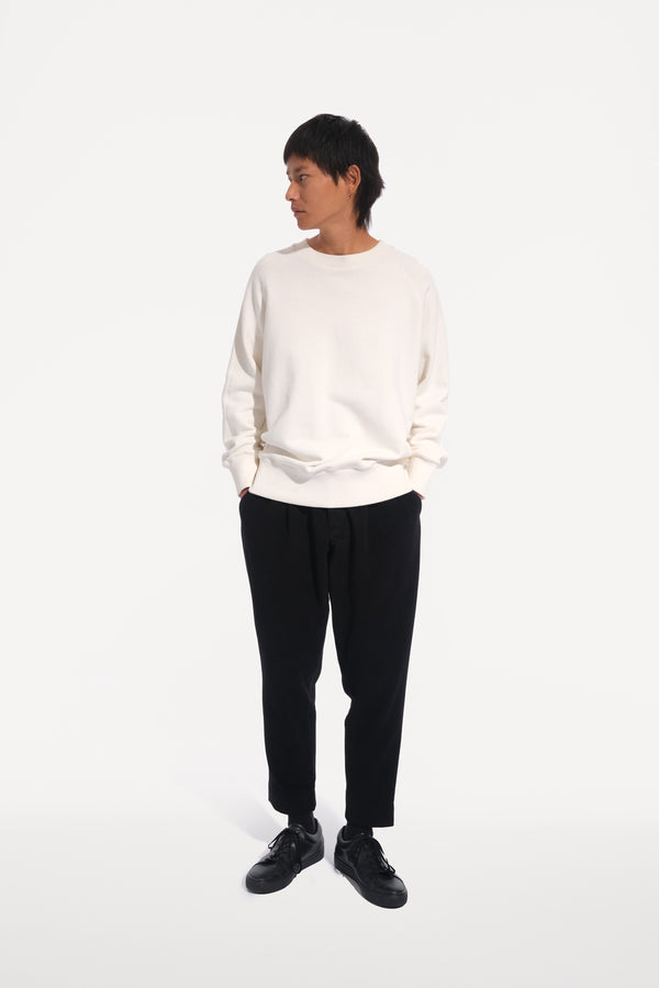 oftt - 02- heavyweight sweatshirt - natural white - organic cotton fleece - image 2