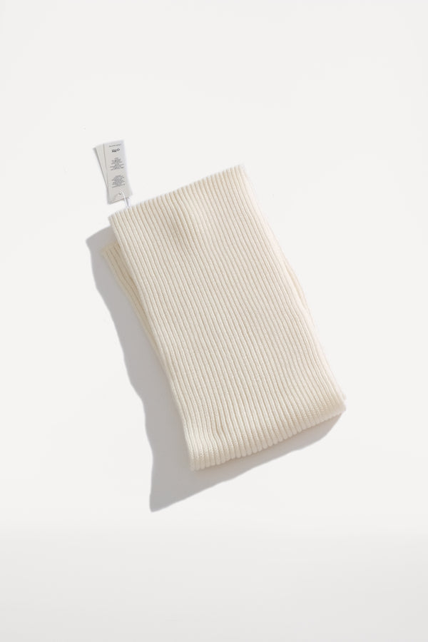 oftt - 00 - knitted rib scarve - off-white - merino wool