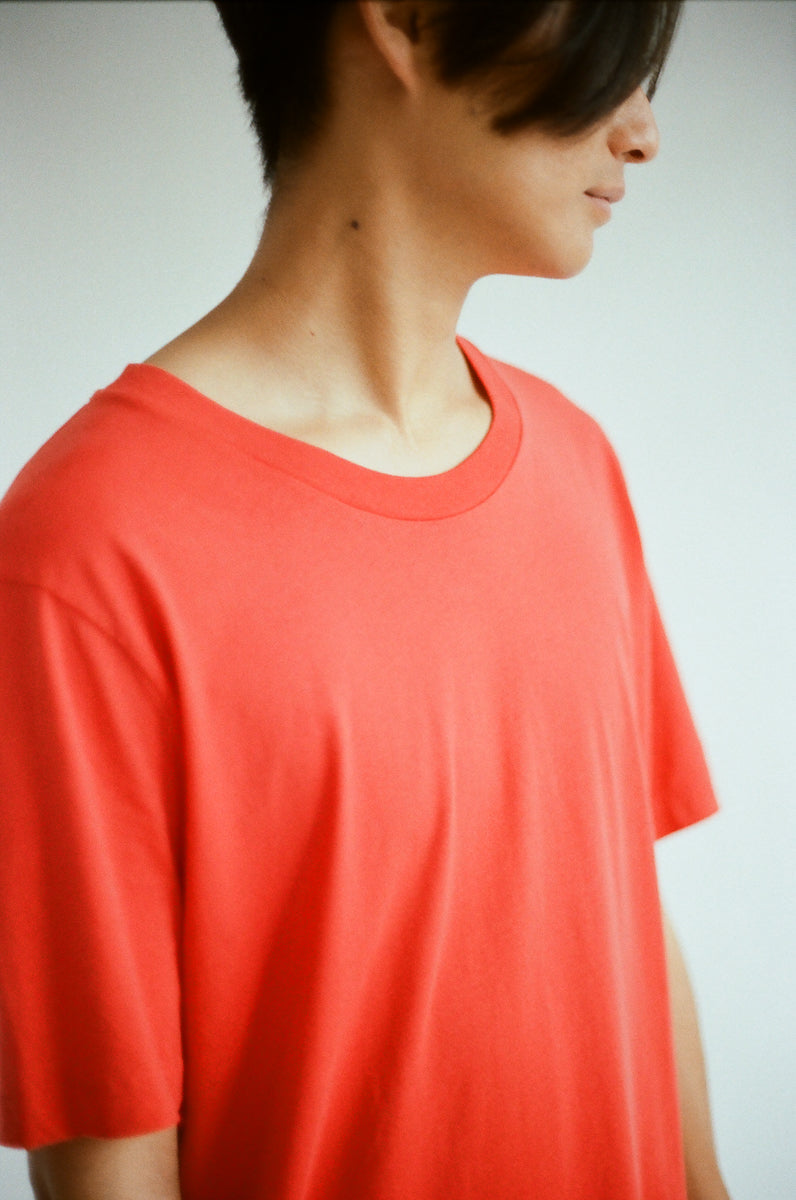 Oftt often perfect fit t-shirt red berlin fashion sustainable organic menswear