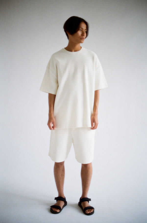 Oftt often  berlin fashion sustainable organic menswear waffle oversized t off-white