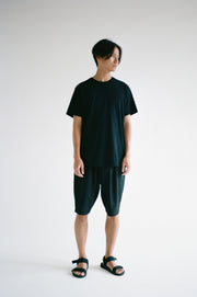 Oftt often  berlin fashion sustainable organic menswear pleated short black