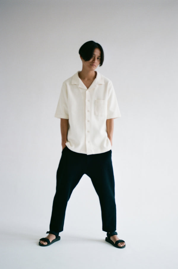 Oftt often  berlin fashion sustainable organic menswear waffle shirt off-white