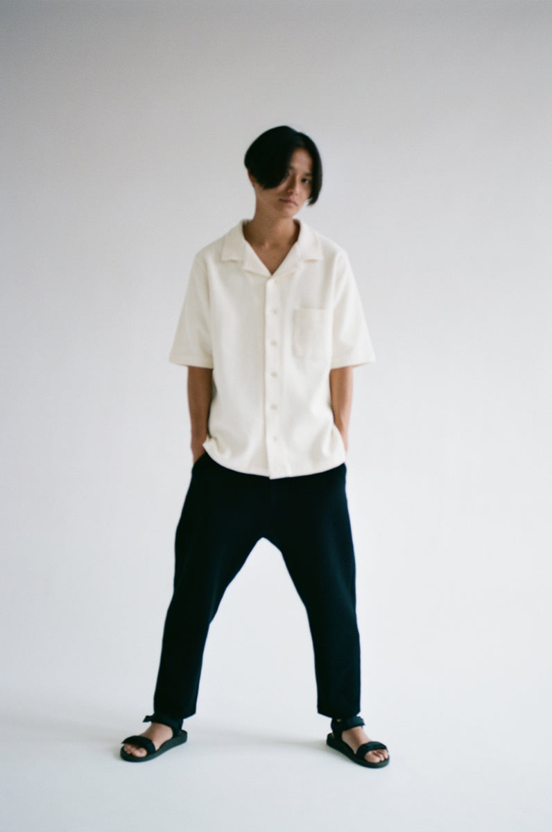 oftt - 06 - Waffle Shirt- off-white- organic cotton