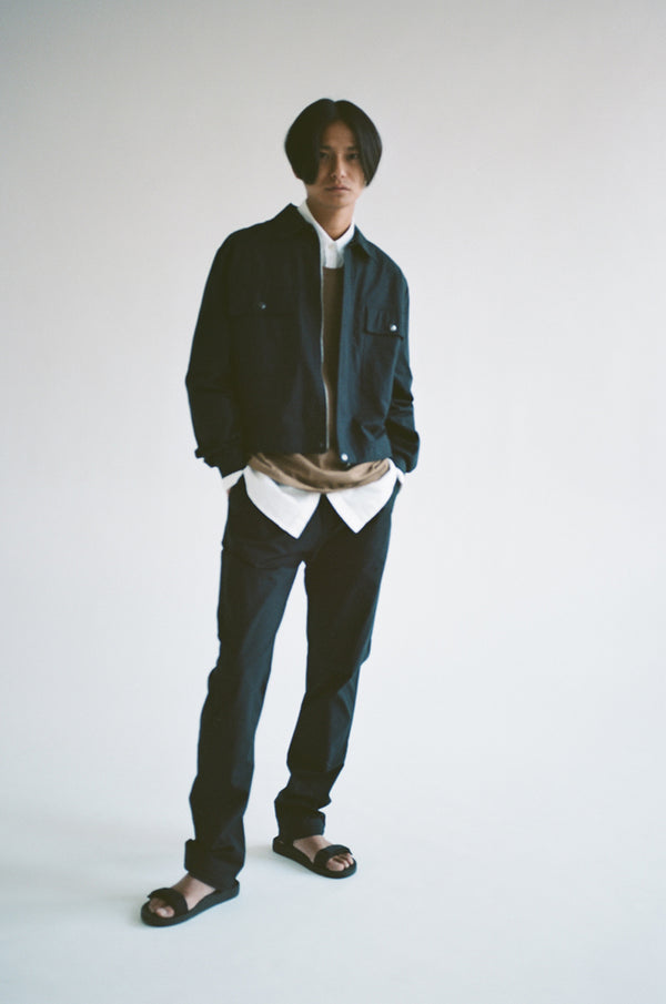 Oftt often  berlin fashion sustainable organic menswear cropped blouson