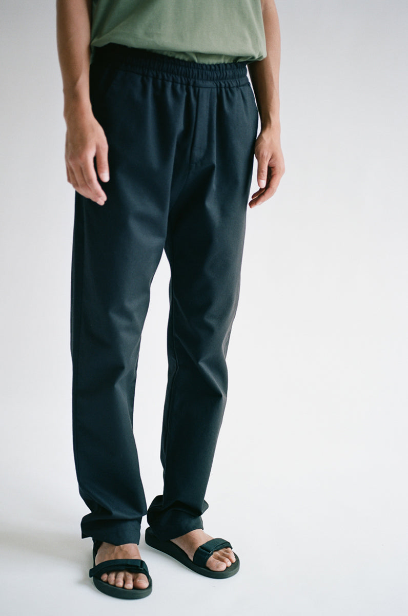 Oftt often  berlin fashion sustainable organic menswear straight leg trouser black navy