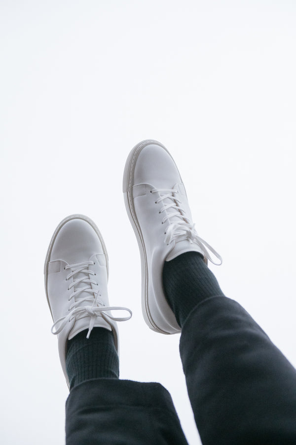 oftt - 00 - vegan trainers white-natural rubber sole, organic cotton shoe laces and recycled foam insole