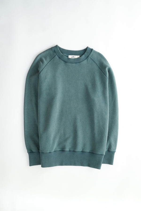 oftt - 02- heavyweight sweatshirt - green - organic cotton fleece - image 2