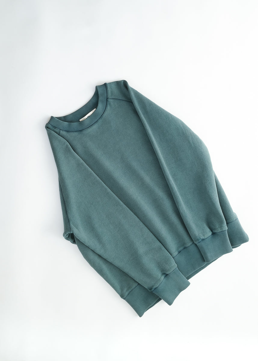 02 / Heavyweight Raglan Sweatshirt / Fade out green