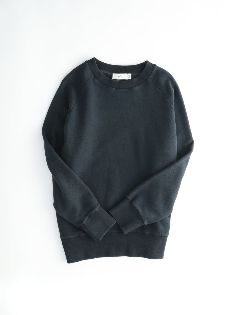 oftt - 02- heavyweight sweatshirt - black - organic cotton fleece