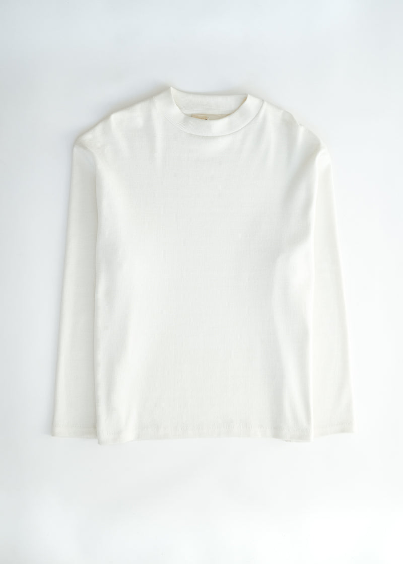 oftt - 04 - turtleneck - natural white - organic cotton - image  2