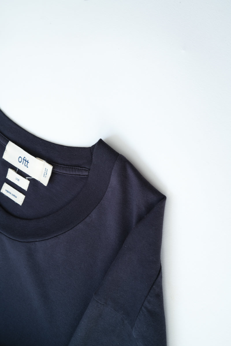 oftt - 01 - perfect fit t-shirt - navy - organic cotton - image 10