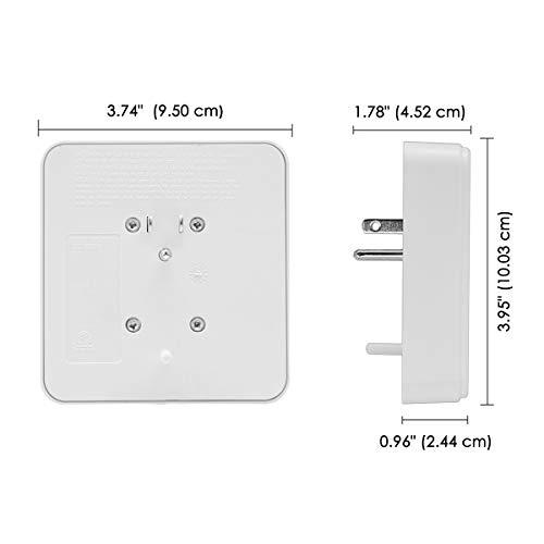 [2 Pack] BESTTEN 900-Joule Wall Outlet Surge Protector, 6-Outlet Adapter, 15A/125V/1875W, cETL Listed, White