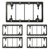[5 Pack] BESTTEN 4-Gang Old Work Low Voltage Mounting Bracket, for Telephone Wires, Coaxial Cable, HDMI/HDTV Cable, Speaker Wire, Network/Phone Cable and More, Standard Size H 4.25(inches)x W 7.82(inches) Black