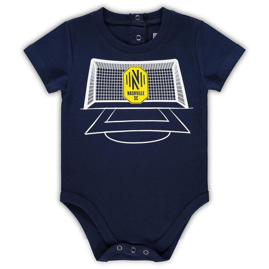 NSC Newborn & Infant Soccer Bodysuit - Nvy