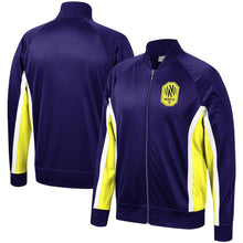 Load image into Gallery viewer, NSC Men's Mitchell & Ness Championship Game Raglan Full-Zip Track Jacket - Nvy