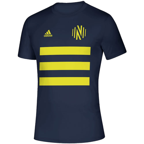NSC Men's Adidas 2021 3SL Pitch Creator SS Tee- Nvy