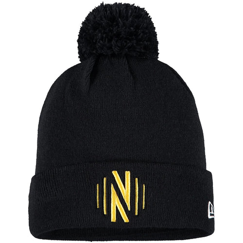 NSC Men's New Era Primary Cuffed Knit Hat with Pom - Blk
