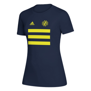 NSC Women's Adidas 2021 3SL Pitch Creator SS Tee - Nvy