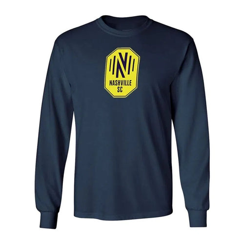 NSC Men's Fanatics Primary Logo LS Tee - Nvy