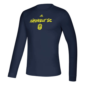 NSC Men's Adidas 2020 Wordmark Goals LS Tee - Nvy