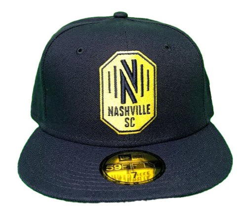 NSC Men's New Era Fitted Basic Nashville Logo - Nvy