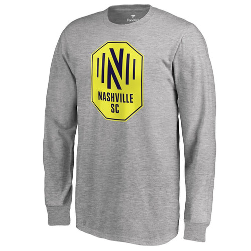 NSC Youth Fanatics Primary Logo LS Tee - Gry