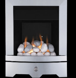 Brushed Steel Gas Fire
