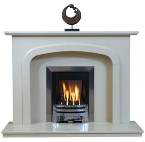 Carlton Marble Fireplace Hearth & Back Panel - bespokemarblefireplaces
