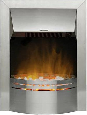 Electric Silver Fire E1 Photo - bespokemarblefireplaces