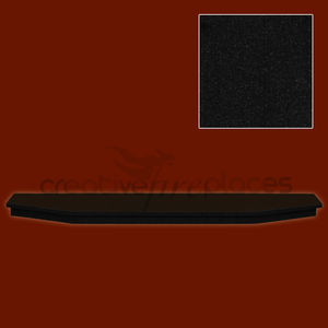 Black Granite Hearth 5 sided - bespokemarblefireplaces