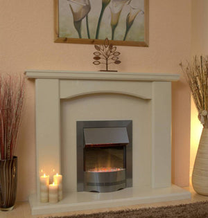 Marble Fireplace Charrington Surround with Electric Fire - bespokemarblefireplaces