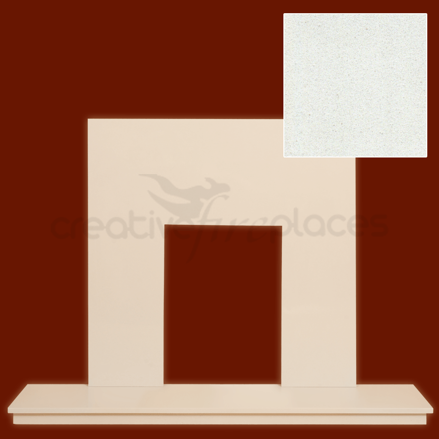 Marble Hearth & Back Panel Package - bespokemarblefireplaces