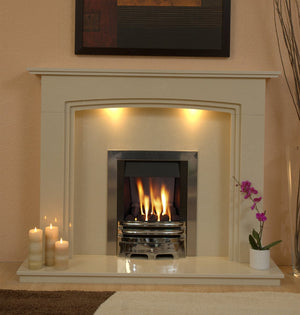 Ashbourne Marble Fireplace Hearth & Back Panel